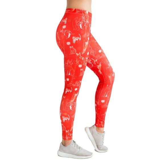 Vincent Van Gogh Fine Art Painting Leggings XS-3XL Lycra Gym Yoga Full Length