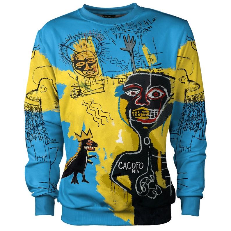 27aaf4310af4 Basquiat sweatshirt women men graffiti art psychedelic street