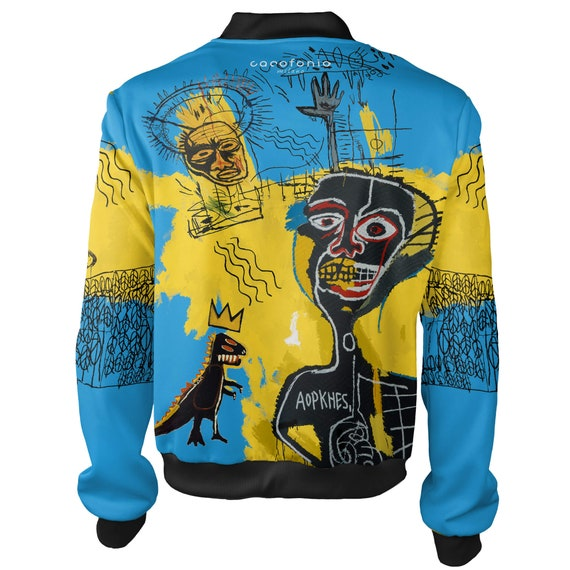 art psychedelic warhol bomber women Basquiat jacket women designer bomber nyc wear men men jacket vintage street creative graffiti clothing Y0qHw64