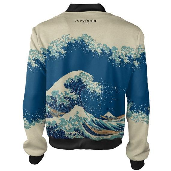 autumn 4xl art bomber japanese Great women mens bomber Wave off vintage men jacket katsushika Kanagawa hokusai rave jacket surfing sukajan qf7UxZU6