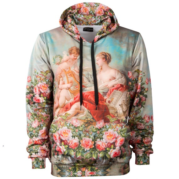unique hoodie Allegory wearable plus art women printed 4xl vintage rococo sweatshirt size hooded paintings hoddy François music Boucher of rx0rpwq65