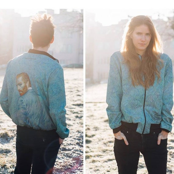 Jacket Loving Art Bomber Etsy Gogh Van Unisex Vincent Men Women ttaZFqpw