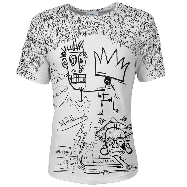 5c489feeb163a T shirt men designer African art King White psychedelic plus size vintage  festival clothing hipster surrealism graffiti top 10 nyc tee women