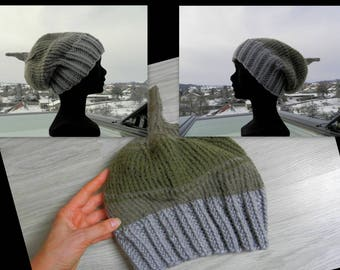 Gray, green and other simple Hat gray