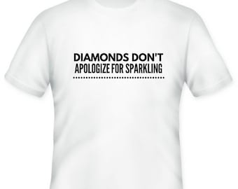 Diamonds just sparkle