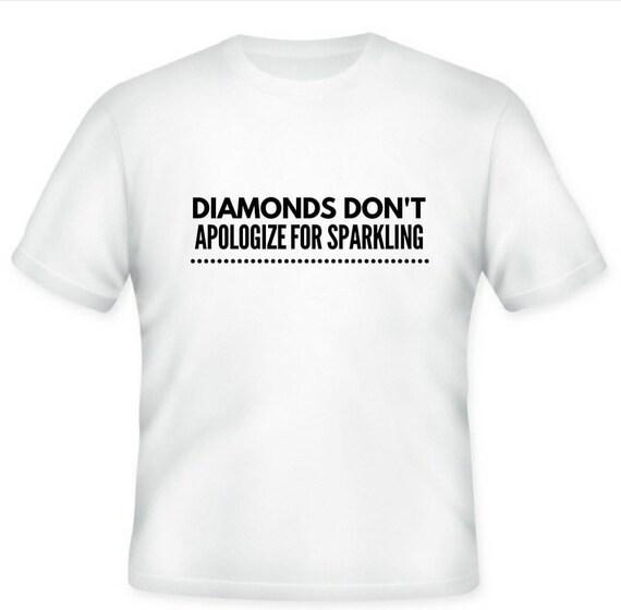 Diamonds just sparkle