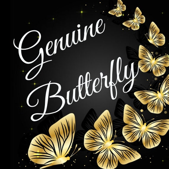 Genuine Butterfly Button