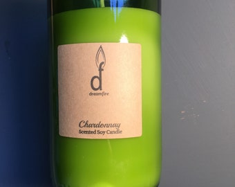 16 OZ Recycled Wine Bottle Candle