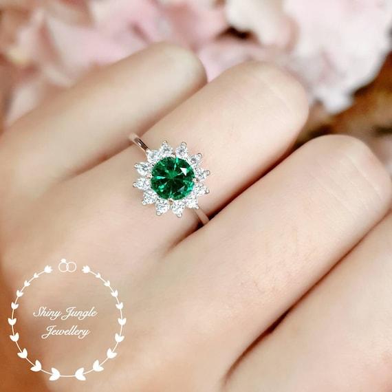 Delicate Emerald  Ring