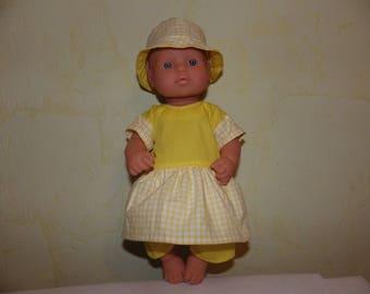 Set was girl doll body hard 30 cm