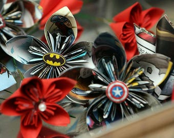 Comic Book boutonniere/ buttonhole flower