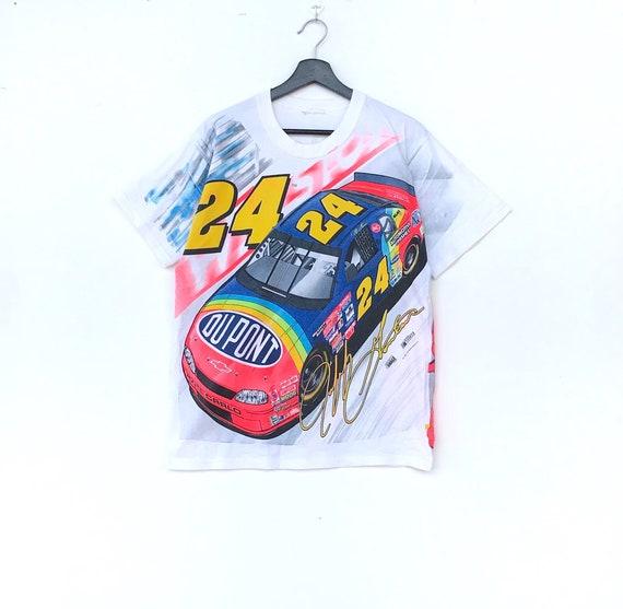 Rare!! Vintage 90s NASCAR  Tees T shirt big printe