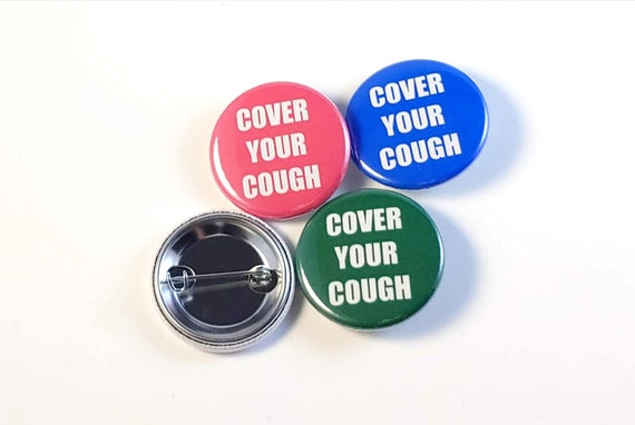 Not Crazy IMMUNOCOMPROMISED Button Pins Pin back buttons- 2.25 Health Excuse the mask
