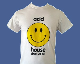 Acid House Smiley Face T Shirt | 30 Year Anniversary Edition