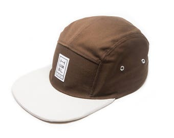 Nutmeg & Stone - Handmade 5 panel camper hat - Organic Cotton