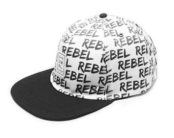 Rebel Rebel - Handmade 5 panel baseball hat - Organic Cotton
