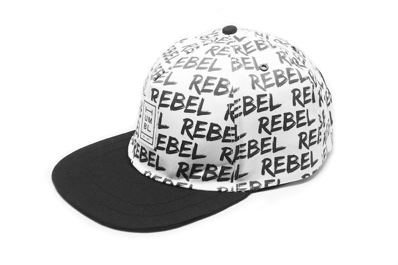 Rebel Rebel  Handmade 5 panel baseball hat  Organic Cotton image 0
