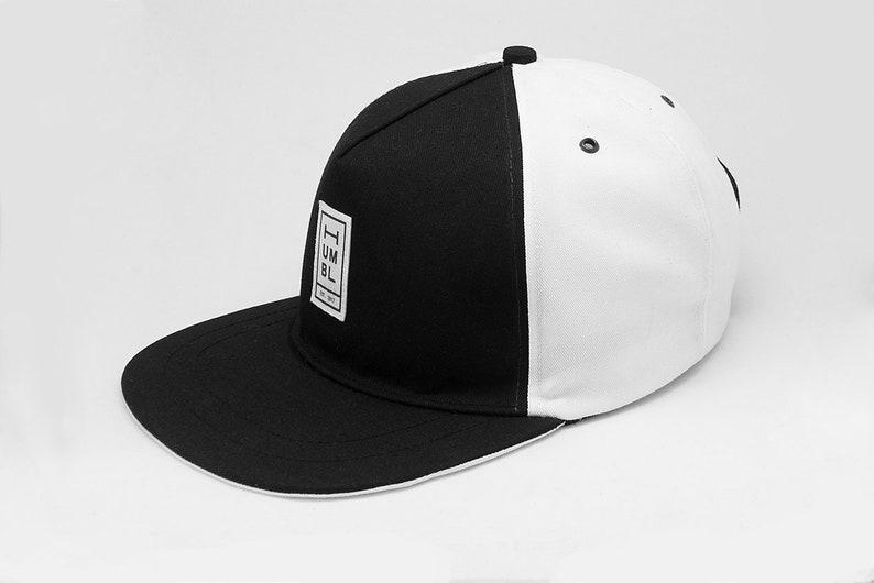 Black & White Duotone  Handmade 5 panel baseball hat  image 0