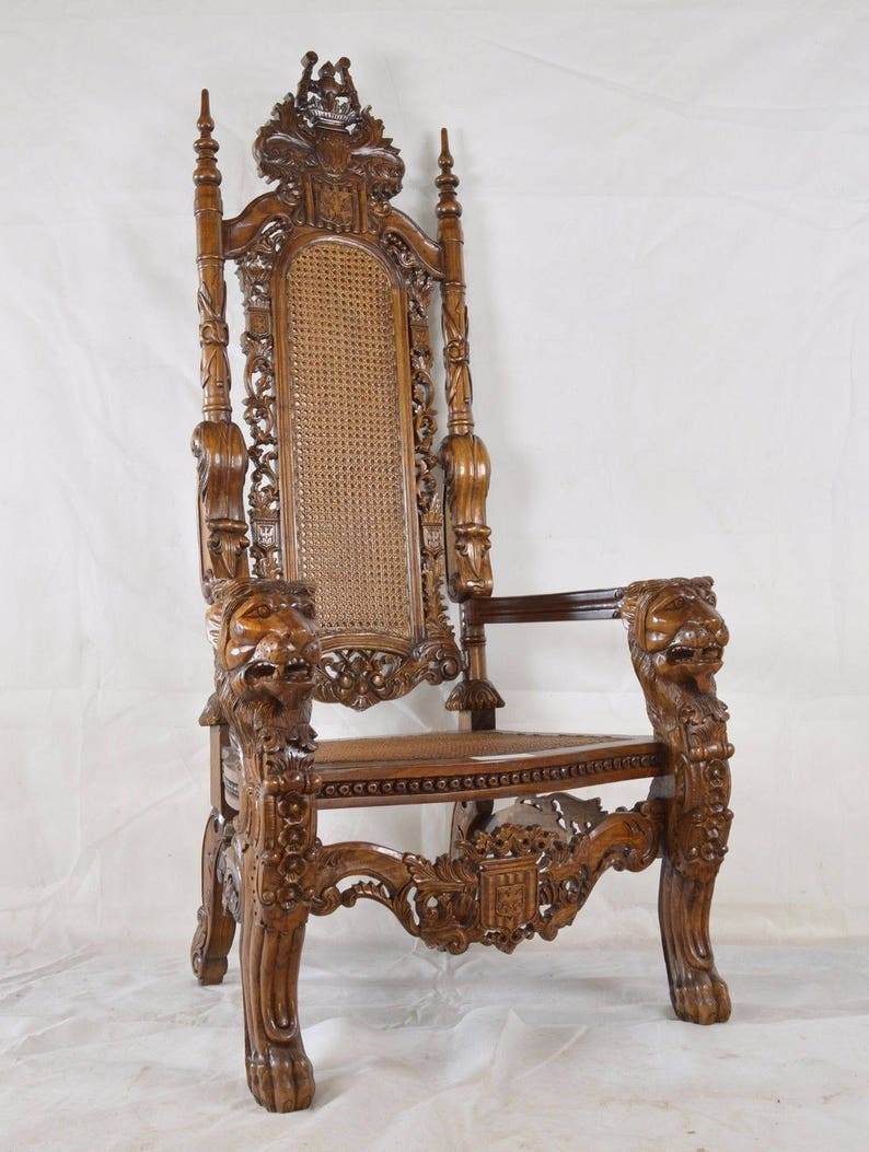 Le Roi Lion Poli Trone Chaise De Rotin