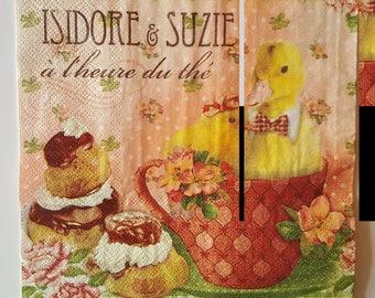 """""""Paper"""" the Tea towel size: 33 x 33 cm"""