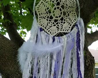 Lavender fields dream catcher/boho dream catchers/shabby chic dream catchers/nursery wall hanging/dream catcher wall hanging.