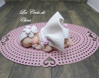 bébé fimo fille tenue de Baptême. d06dcc2e771