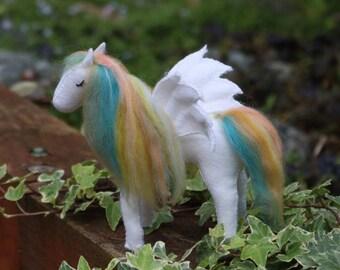 Pegasus felt horse