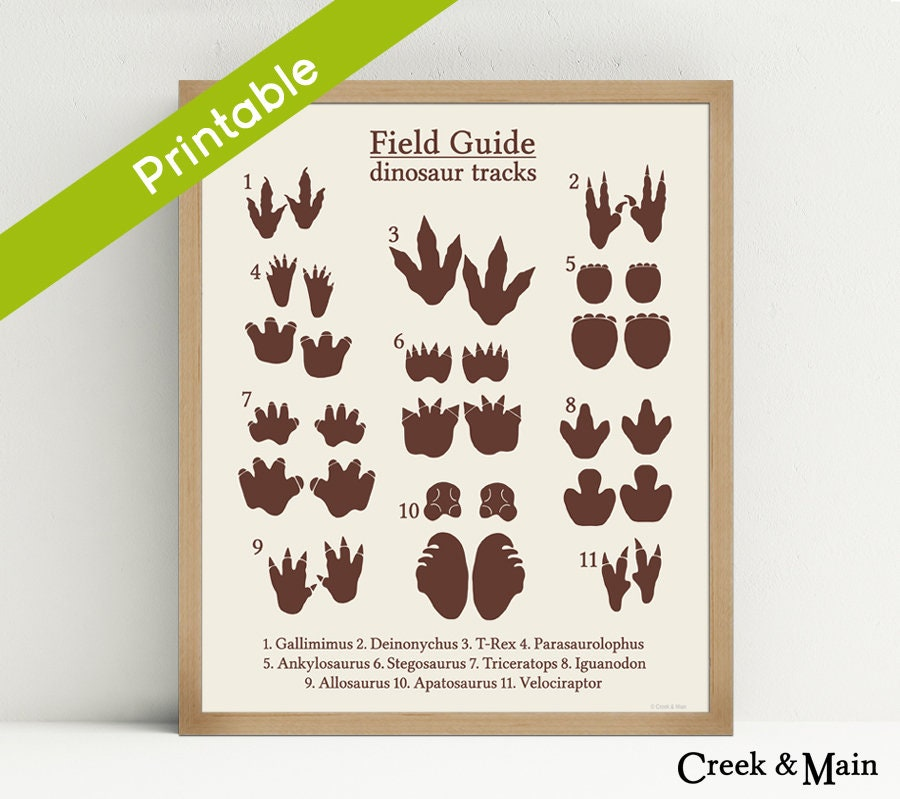 image regarding Printable Dinosaur Footprints named Dinosaur Songs Print, Printable, Dinosaur Nursery Artwork, Animal Songs, Dinosaur Footprint, Dinosaur Nursery, Small children Dinosaur Bed room, Brown