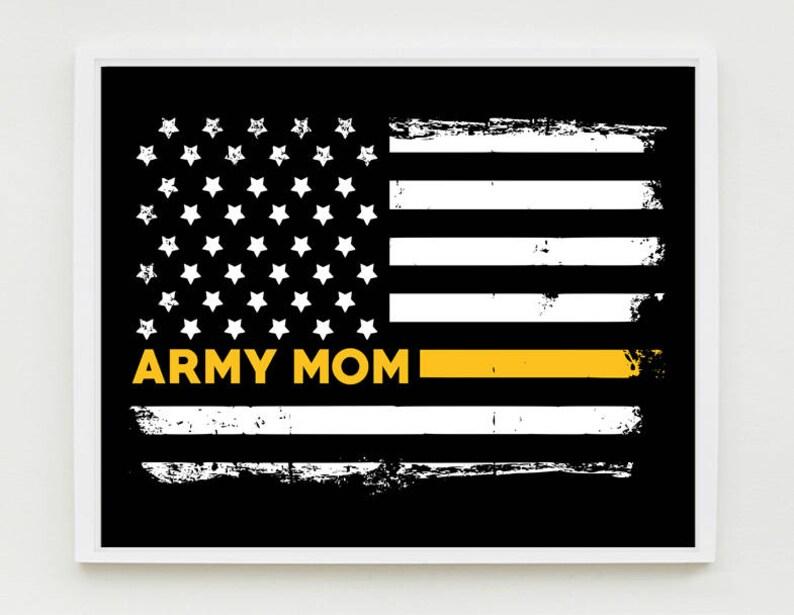 ace31abf Army Mom Art Print Proud Mom Military Wall Art US Flag | Etsy