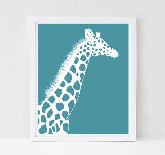 Giraffe Nursery Art Safari Nursery Decor Nursery Art Wildlife Prints Jungle Bedroom Decor Baby Shower Decor Animal Nursery Art