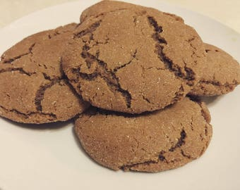 One Dozen Soft Molasses Cookies
