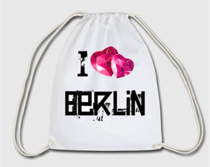 I love Berlin sports bag bag backpack gift for Christmas, birthday or Easter
