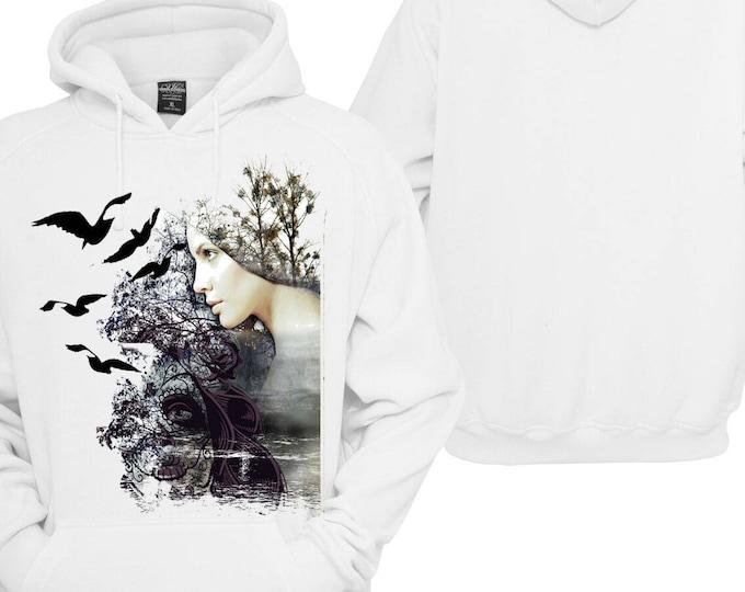 100% hot stuff women abstract bird Hoodie pullover Hoodie gift sayings Sweatshirt