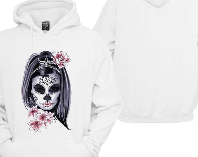 100% hot stuff woman skull Scull Women Hoodie pullover Hoodie gift sayings Sweatshirt