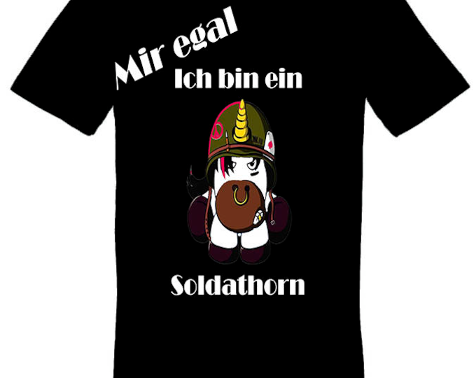 I don't care I'm a unicorn Soldathorn tshirt gift for Christmas birthday or Easter