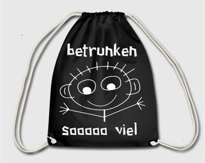 drunk soo much alcohol party sports bag bag backpack gift for Christmas, birthday or Easter