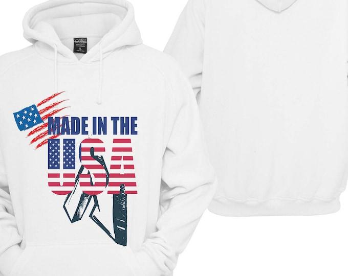 100% hot stuff USA America America Hoodie pullover Hoodie gift sayings Sweatshirt
