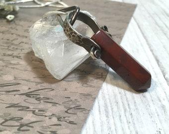 Jasper pendant - Jasper pendant necklace - Jasper necklace - Jasper silver necklace - Red jasper pendant - Red jasper - Red jasper stone