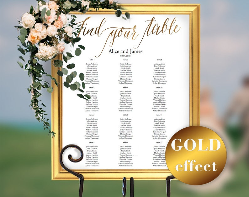 Seating Board Instant Download #HQT011/_9 Seating Chart Template Seating Chart Wedding Seating Chart Sign Wedding Seating Chart PDF