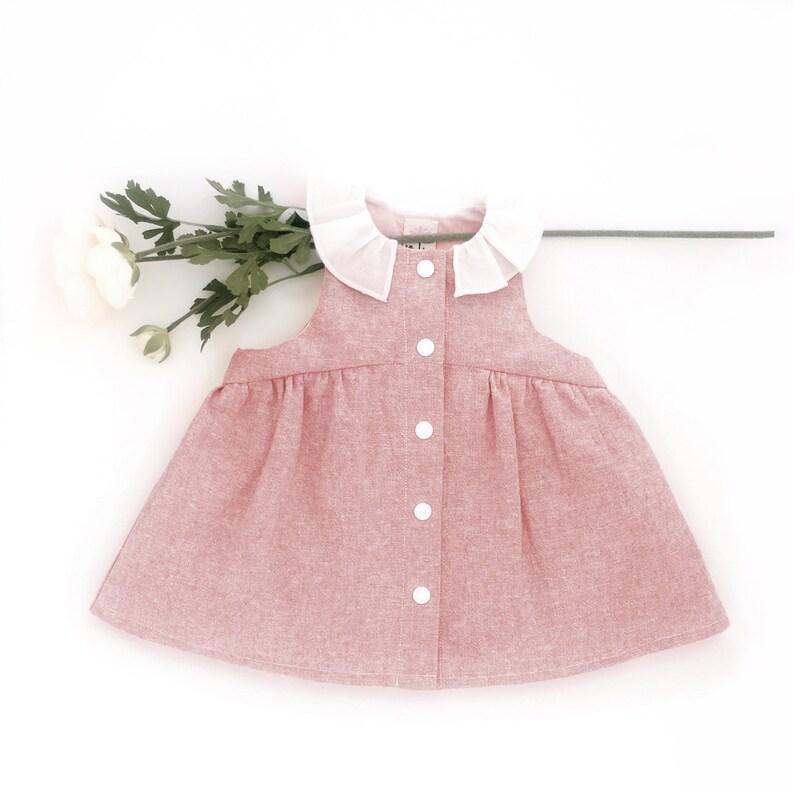 6b5510601 Flower Girl Infant Dress / Baby Girl Photoshoot Outfit / Linen | Etsy