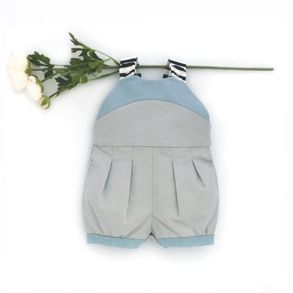 9ecbef7beac Baby Boy Blue Romper   Toddler Bubble Suit   Hipster Kids