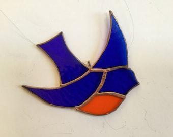 Bluebird of Happiness Stained Glass Suncatcher - Joy!
