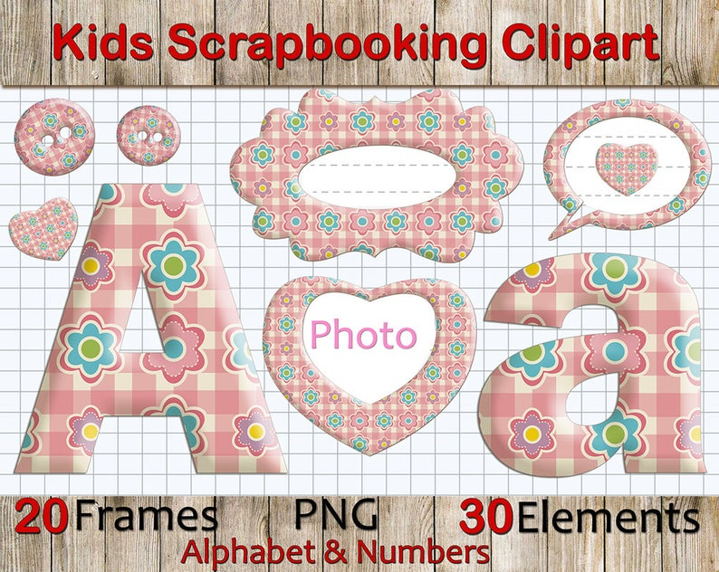 3c590990980 Kids Alphabet Clipart  Scrapbooking Clip Art Kids Letters