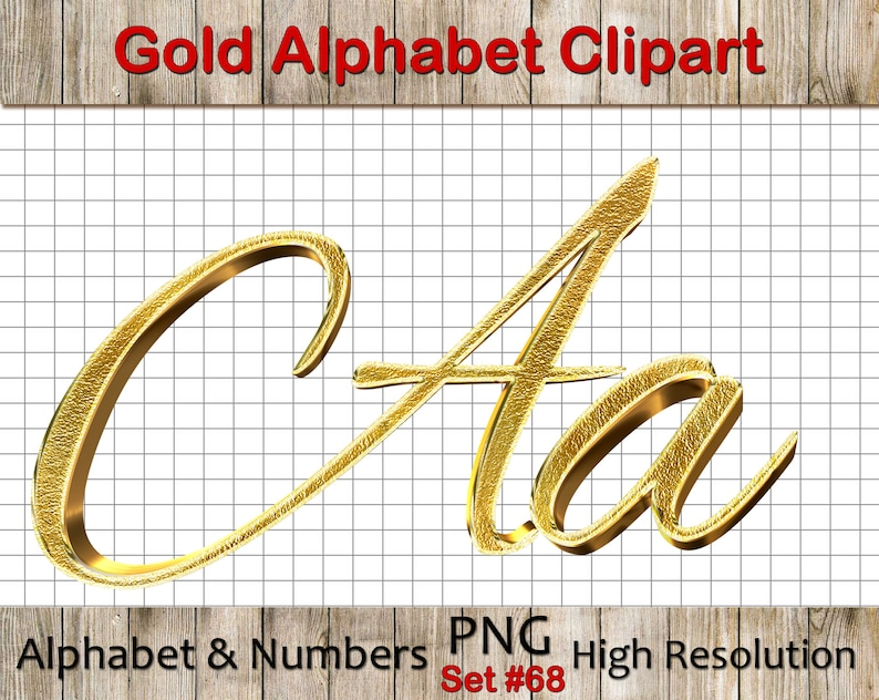 3e7ed97aa03 Gold Alphabet Clipart with 3d effect  Gold Clip Art Gold