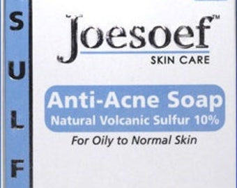 Sulfur Soap Acne 4 Pack | Joesoef Skin Care Sulfur Soap with Salicylic Acid
