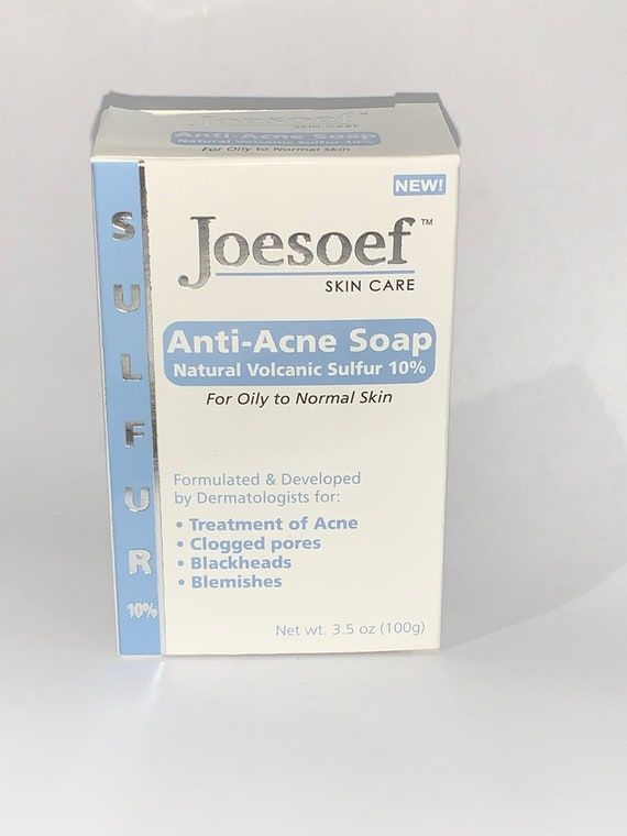 Sulfur Soap Acne 4 Pack Joesoef Skin Care Sulfur Soap With Etsy