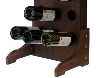 Wine rack Dark Oak of foot to 15 bottles