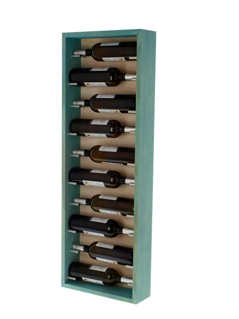 Wall Bottle Rack Capacity 10 Bottles White Color