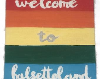Falsettos Musical Welcome to Falsettoland Acrylic Painting 5 x 7