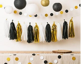 Black And Gold Party Etsy